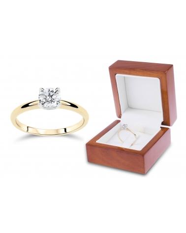Złoty pierścionek 333 cyrkonia L86