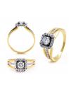 Piękny złoty pierścionek zaręczynowy 0,55 ct