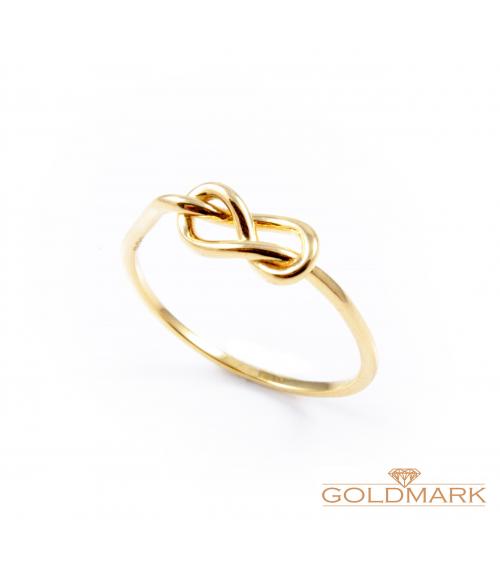 """Złoty pierścionek z kolekcji """"Delicate"""""""