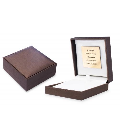 Pudełko z dedykacją na blaszce [PB-002]