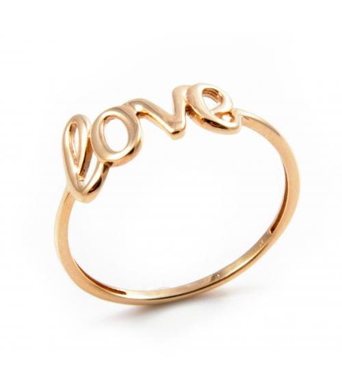 Złoty pierścionek Love [ZPL-1]