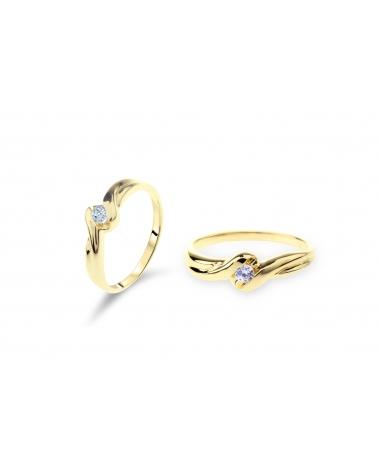 Złoty Pierścionek BN126 333